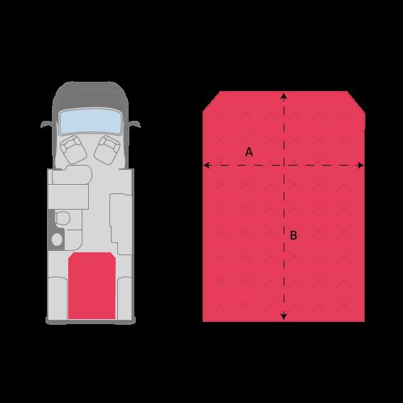 Lit central vild mousse matelas camping car mobil home camion et bateau - Mousse pour lit camping car ...